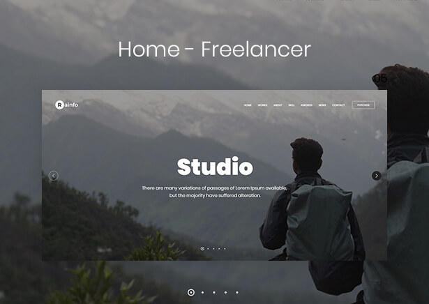 Rainfo - Minimal Creative Portfolio for Freelancers & Agencies - 6